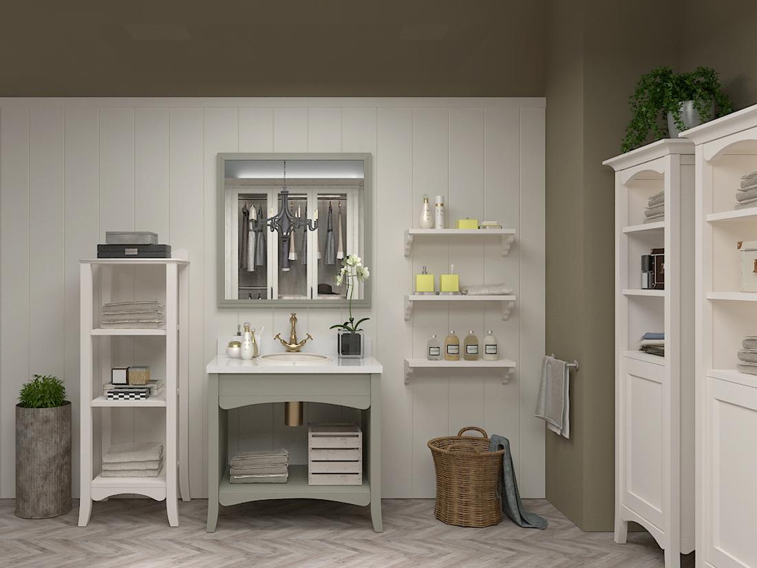 夏洛特系列-美式风格-卫浴柜
