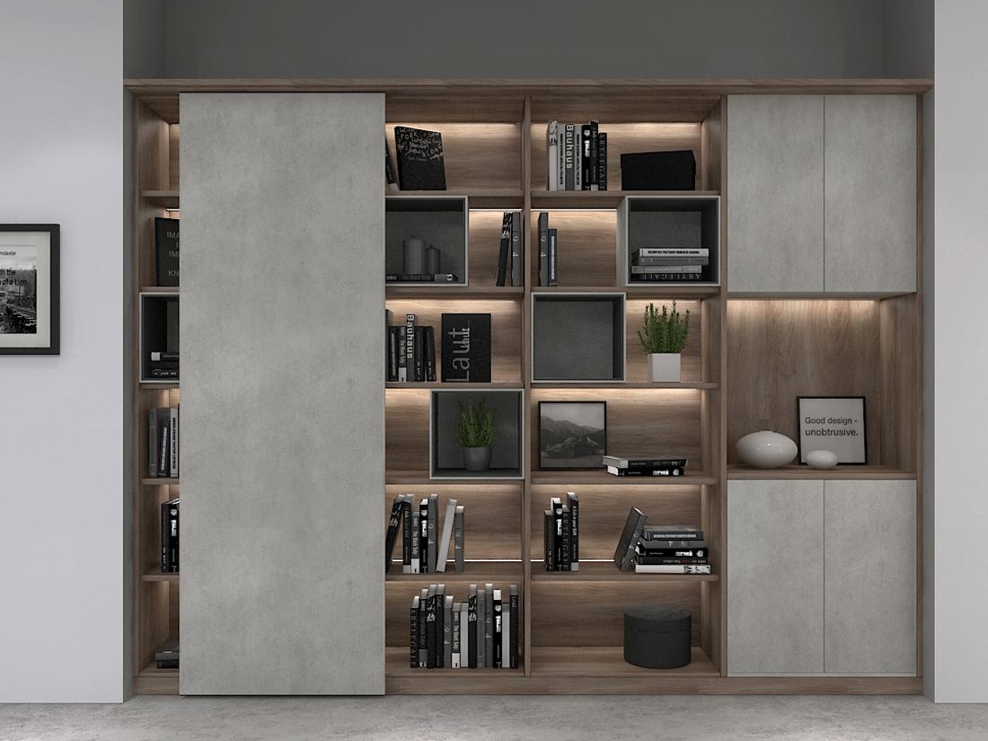 轻奢风格-书柜